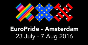 Illustration logo EuroPride Amsterdam 2016