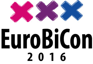 Illustration logo European Bisexual Conference Amsterdam 28-31 July 2016