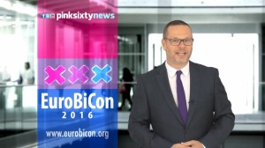Screenshot PinkSixtyNews covers EuroBiCon 2016