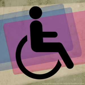 Illustration accessible with wheelchair. Design: Elysa van de Heide.